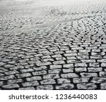 historic stone cobble in the... | Shutterstock . vector #1236440083