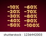 promotional discount gold...   Shutterstock .eps vector #1236442003