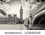 Landscape Of Big Ben And Palace ...