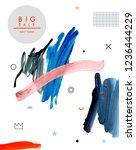 art poster. paint strokes. ...   Shutterstock . vector #1236444229