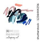 art poster. paint strokes. ...   Shutterstock . vector #1236444256