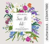 vector floral vintage... | Shutterstock .eps vector #1236447880