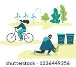 vector flat illustration  young ...   Shutterstock .eps vector #1236449356