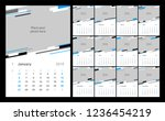 calendar design for 2019. week... | Shutterstock .eps vector #1236454219