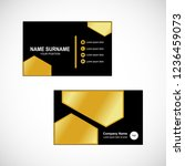 business card vector | Shutterstock .eps vector #1236459073