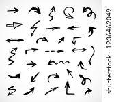 hand drawn arrows  vector set | Shutterstock .eps vector #1236462049