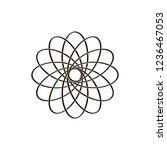 sacred geometry symbol. vector... | Shutterstock .eps vector #1236467053