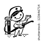 little gas attendant   retro... | Shutterstock .eps vector #123646714