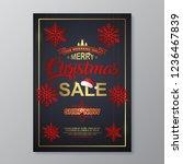 christmas sale poster design... | Shutterstock .eps vector #1236467839