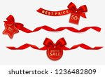 set of decorative new year or... | Shutterstock .eps vector #1236482809