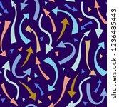 festive seamless pattern of... | Shutterstock .eps vector #1236485443