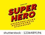 comics style font design ... | Shutterstock .eps vector #1236489196