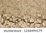 3d wallpaper design with...   Shutterstock . vector #1236494179