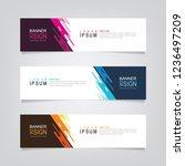 vector abstract web banner... | Shutterstock .eps vector #1236497209