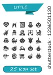 vector icons pack of 25 filled...   Shutterstock .eps vector #1236501130
