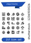 vector icons pack of 25 filled... | Shutterstock .eps vector #1236503026