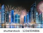 modern buildings on dubai...   Shutterstock . vector #1236504886