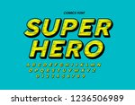 comics style font design ... | Shutterstock .eps vector #1236506989
