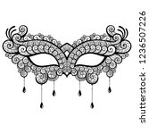 lace masquerade mask. vector...   Shutterstock .eps vector #1236507226