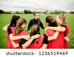 rugby players and their coach...   Shutterstock . vector #1236519469