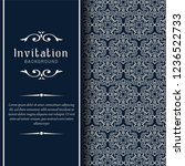 decorative wedding invitation...   Shutterstock .eps vector #1236522733