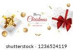 christmas greeting card. xmas... | Shutterstock .eps vector #1236524119