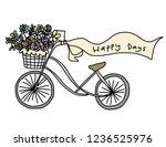 bike with flowers basket....   Shutterstock .eps vector #1236525976