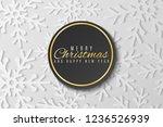 christmas greeting card.... | Shutterstock .eps vector #1236526939