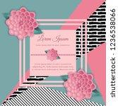 vector abstract flower | Shutterstock .eps vector #1236538066