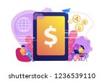 businessman and woman transfer...   Shutterstock .eps vector #1236539110