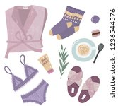 vector illustrations of cosy ... | Shutterstock .eps vector #1236544576