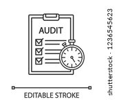 operational audit linear icon.... | Shutterstock .eps vector #1236545623