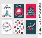 vector set of hand drawn... | Shutterstock .eps vector #1236548020