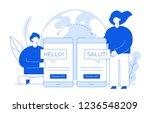 vector flat line translation...   Shutterstock .eps vector #1236548209