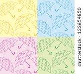 seamless texture umbrellas | Shutterstock .eps vector #123654850