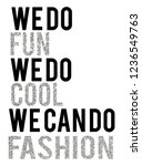 stylish trendy slogan tee t... | Shutterstock .eps vector #1236549763