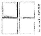 four grunge frames  vector | Shutterstock .eps vector #123655099