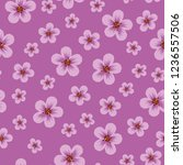 seamless pattern from pink... | Shutterstock . vector #1236557506