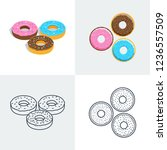 illustration. set of colorful... | Shutterstock . vector #1236557509