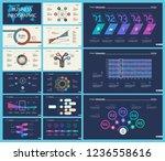 set of analysis or marketing... | Shutterstock .eps vector #1236558616