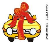wedding gift car   Shutterstock .eps vector #123655990