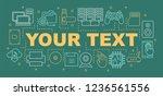 computer hardware word concepts ... | Shutterstock .eps vector #1236561556