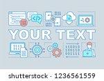 computer programming word... | Shutterstock .eps vector #1236561559