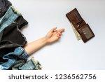 shopping black friday or cyber... | Shutterstock . vector #1236562756