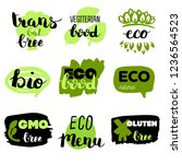 healthy food icons  labels....   Shutterstock .eps vector #1236564523