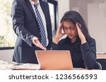 woman employee stressed and...   Shutterstock . vector #1236566593