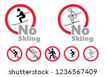 no skiing ski no cross country... | Shutterstock .eps vector #1236567409