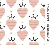 seamless pattern with hand... | Shutterstock .eps vector #1236570433