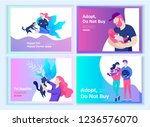 set of landing page templates... | Shutterstock .eps vector #1236576070
