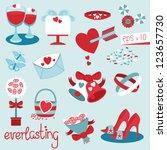 everlasting wedding collection...   Shutterstock .eps vector #123657730